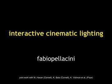 interactive cinematic lighting