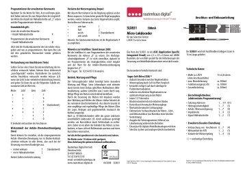 Anleitung zum Micro-Lokdecoder SLX831 - MDVR