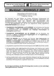 WOHNGELD Merkblatt Juni 2009 - Provincia Autonoma di Bolzano