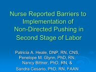Nurse Reported Barriers to Implementation of Non-Directed ... - IUPUI