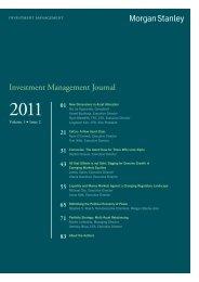 Investment Management Journal: Volume 1 Issue 2 - Morgan Stanley