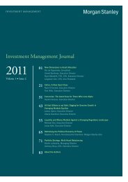 Investment Management Journal: Volume 1 Issue 2 - Morgan Stanley