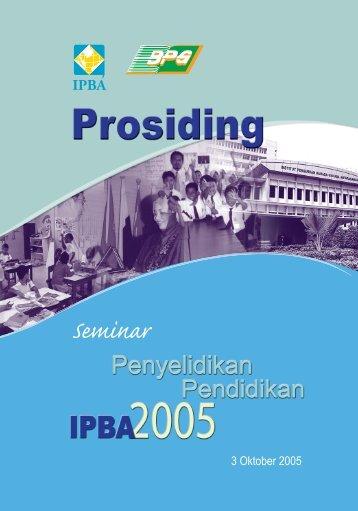 Prosiding Seminar Penyelidikan Pendidikan 2005 - Kementerian ...
