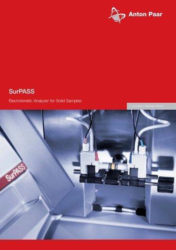 SurPASS zeta potential analyser - MEP Instruments