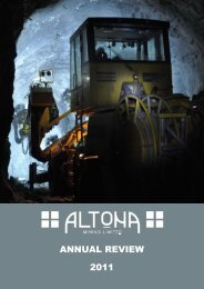 ANNUAL REVIEW 2011 - Altona Mining