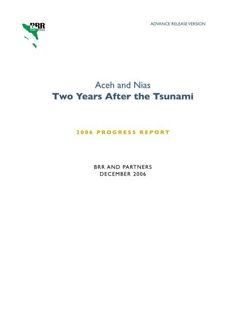 Aceh and Nias Two Years After the Tsunami - International ...