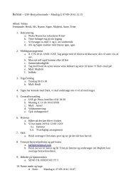 Referat – GSF-Bestyrelsesmøde – Mandag d. 07-09-10 kl. 12:15 ...