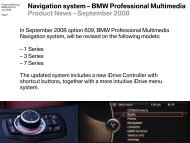 Navigation system – BMW Professional Multimedia - BimmerFile
