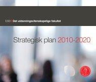 Strategisk plan 2010-2020 - Det utdanningsvitenskapelige fakultet