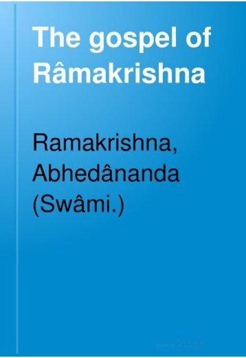 The Gospel of Sri Ramakrishna - Swami Vivekananda