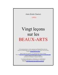 Vingt leons sur les BEAUX-ARTS - z