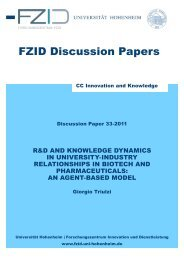 FZID Discussion Papers - Universität Hohenheim