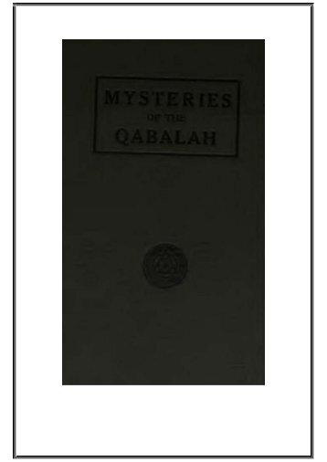Mysteries-Of-The-Qabalah