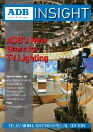 ADB's New Stars for TV Lighting ADB's New Stars for TV Lighting
