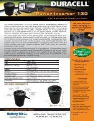 Spec Sheet - Battery Biz