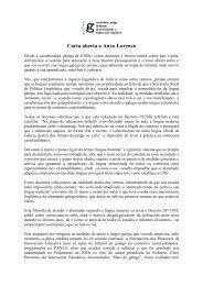 Carta aberta a Anxo Lorenzo - Coordinadora Galega de ENDL
