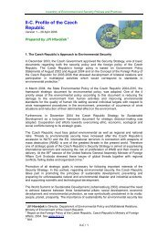 II-C. Profile of the Czech Republic - Institute for Environmental Security
