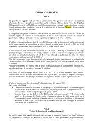 capitolato tecnico - Dipartimento della Protezione Civile