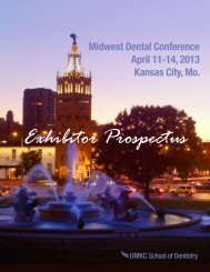 Exhibitor Prospectus - UMKC School of Dentistry - University of ...