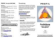 Flyer Profil 2007-2008 - Evangelisches Schulwerk für Württemberg
