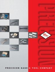 Fineness of Grind Gage catalog - Precision Gage & Tool