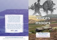 Moor Memories leaflet - Moors for the Future