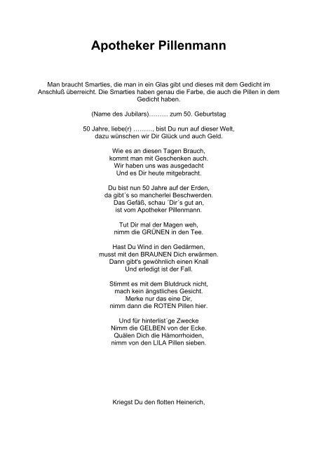 Gedicht geburtstag 50