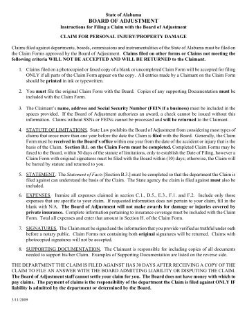 Instructions For Completing A Tort Claim Form City Of Yakima