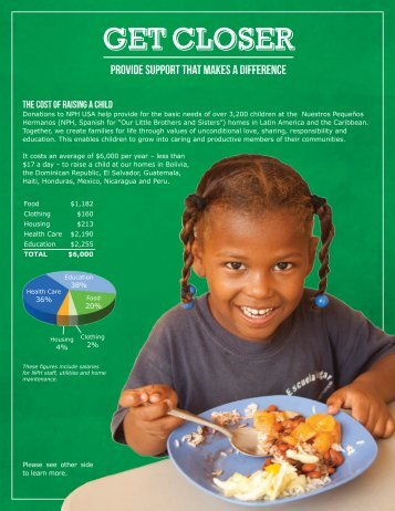 What it Costs to Raise a Child at Our Homes - Friends of the Orphans