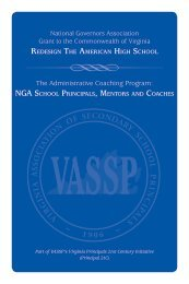 The Administrative Coaching Program: - Virginia Association of ...