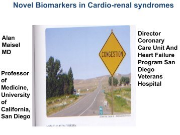 Novel Biomarkers in Cardio-renal syndromes - Introducing ...