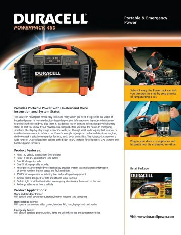 Duracell Powerpack 450 - Duracell Portable Power