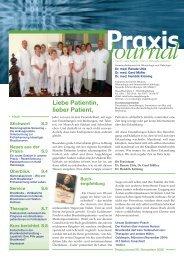 Ausgabe 8 / 2006 - Schwerpunktpraxis für Hämatologie und Onkologie
