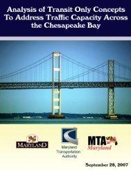 to view the Bay Bridge Transit Study - Maryland Transportation ...