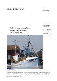 INGE-BIRTHE - forlis den 27. august 2004 - Søfartsstyrelsen