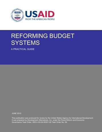 Reforming Budget Systems (Full Study) - Economic Growth - usaid