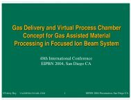 Gas Delivery and Virtual Process Chamber Concept for Gas ...