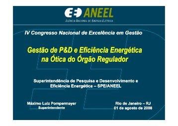 Máximo Luiz Pompermayer ANEEL - Congresso Nacional de ...