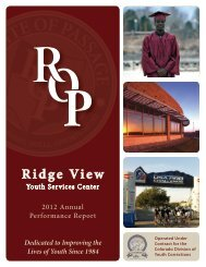 2012 Annual Report - Ridge View Academy