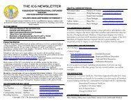 The ICG Newsletter - International Costumers' Guild, Inc.