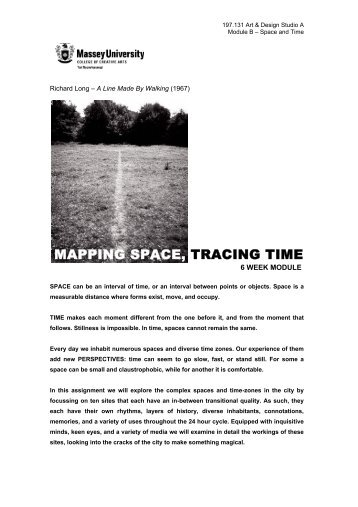 197131A Space and Time - Spatial Design@Massey