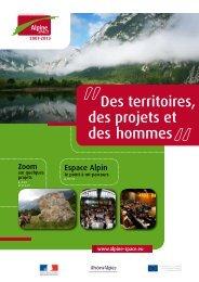 Des territoires, des projets et des hommes - Alpine Space Programme