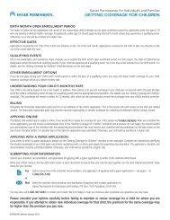 Employee Enrollment Form - Kaiser Permanente Group Health ...