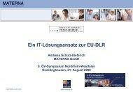 Ein IT-Lösungsansatz zur EU-DLR - Oev-symposium.de