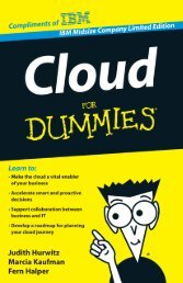Cloud For Dummies, IBM Midsize Company Limited ... - nextvalue.it