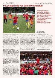 Fussballschule auf dem Löhrenacker - Birseck Magazin