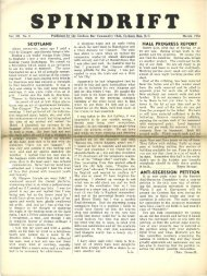 spindrift mar 1950 - Cordova Bay Association for Community Affairs