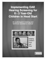 Implementing OAE Hearing Screening for 0 - 3 Year-Old Children in ...