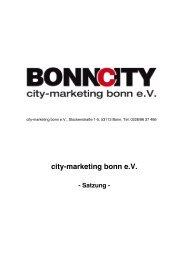 Die Vereinssatzung als PDF - City-Marketing Bonn eV