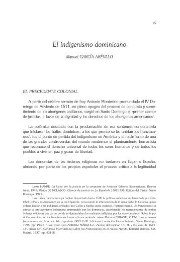 El indigenismo dominicano